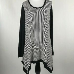 Philosophy Black and White Tunic